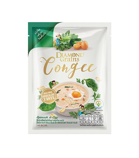 Congee Spinach And Egg Pouches (35g.)